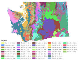 Map Of Washington Coast by Washington Native Plant Provisional Seed Zones Jpg