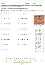 Ged Worksheets Solving Complex Quadratic Equations Worksheet Tessshebaylo