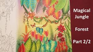 forest part2 2 magical jungle by johanna basford youtube