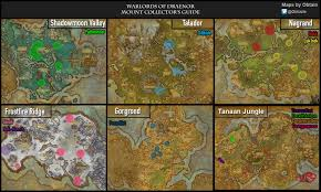 Wow Map Warlords Of Draenor Mount Collector U0027s Guide Guides Wowhead