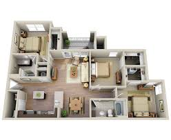 2 Bedroom Apartments In North Carolina Three Bedroom Apartment Homes The Summit At Nashville West