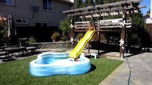 big backyard water slide outdoor furniture design and ideas