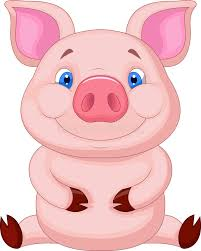 cute baby pig cartoon sitting royalty free stock images image
