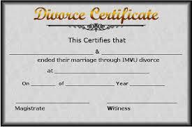 divorce certificate template certificate templates