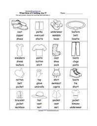 clothes fill in b u0026w worksheet primary pinterest worksheets