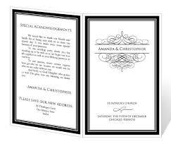 wedding program design half fold wedding programs tolg jcmanagement co