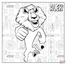 alex the lion coloring page free printable coloring pages