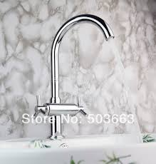 popular kitchen faucets discount buy cheap kitchen faucets best discount swivel polished chrome brass bibcock kitchen faucet spout vessel sink double handles deck mounted