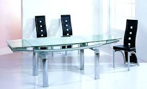 Black Glass Extending Dining Table Extendable Glass Dining Tables Uk Round Extendable Glass Dining