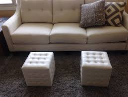 cube tray white leather ottoman u2014 derektime design optional