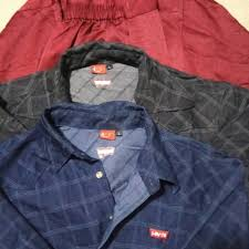 Baju Levis Biru baju melayu merah size m kemeja levis hitam dan biru size l