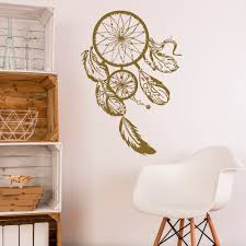 stickers muraux chambre avec catcher sticker or dreamcatcher