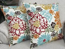 Fall Decorative Pillows - brown and cream floral throw pillow