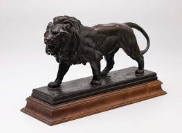 barye lion sculpture lion walking circa 1840 cast post 1875 by unknown after