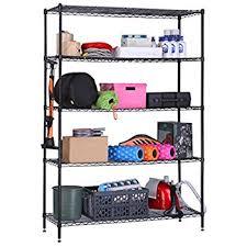Garage Shelving System by Amazon Com Langria 5 Tier Garage Shelving Utility Shelves Metal