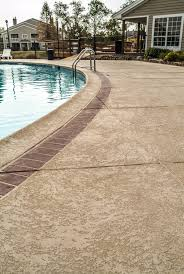 concrete pool decks commercial residential stamped colored