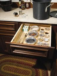 kitchen cabinet interior organizers not just spices but also flour sugar kitchens