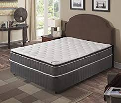 amazon com continental sleep mattress pillow top pocketed coil
