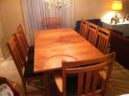 dining room table and chairs mission craft furniture