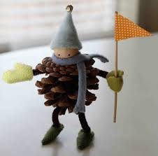 pinecone elf originally from marthastewart com i think so cute
