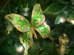 Glitter Butterfly Christmas Decorations by Decorating An Irish Themed Christmas Tree Amazing Christmas Ideas