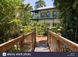 ernest hemingway residence key west florida stock photo royalty