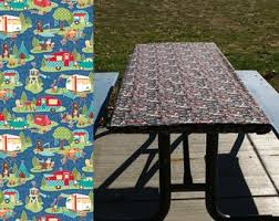 fitted picnic table covers picnic table cover etsy