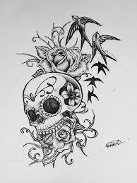 skull designs drawing
