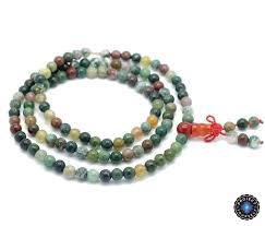 beads necklace india images Natural agate stone buddhist india 108 prayer beads mala bracelet jpg