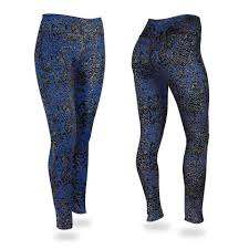 post pattern legging royal blue black gray zubaz store