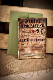 Zombie Apocalypse Halloween Decorations Zombie Theme Halloween Invitations And Favors Walking Dead Party