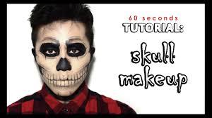 halloween cartoon makeup 60s tutorial easy skull makeup halloween men u0027s makeup youtube