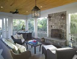 Cost Of Stone Fireplace by Farmhouse Porch Lights Porch Traditional With Stained Bead Board