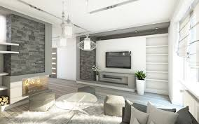 Living Room Wallpaper Gallery Pictures Living Room 3d Graphics High Tech Style Interior 6000x3750