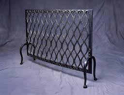 Fireplace Metal Screen by Blacksmith Custom Designed Fireplace Screen Hand Forged Steel