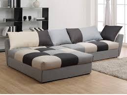 canape d angle en tissus canapé angle convertible en tissu gris ou chocolat romane