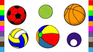 learn sport balls names for baby and kids sport balls coloring