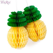 luau table centerpieces fengrise pineapple honeycomb table centerpiece ananas decoration