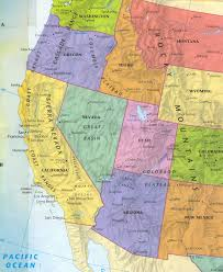 map us states regions western us states mapquiz printout usa throughout map of west and