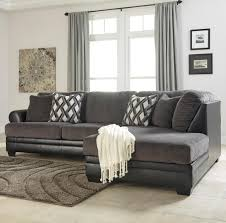 Living Room With Sectional Benchcraft Kumasi 2 Piece Fabric Faux Leather Sectional With Right