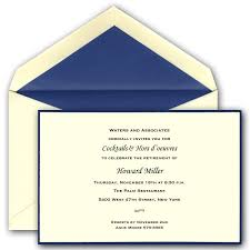 Retirement Invitation Wording Navy Blue And Ecru Retirement Invitations Paperstyle