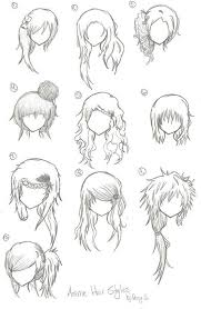 spiky anime hairstyles hairstyles anime manga drawing art bun curly long short