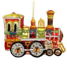 holiday train glass ornament novelty nostalgia u0026 fun