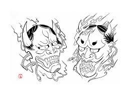 hannya mask samurai tattoo hannya masks by laranj4 on deviantart