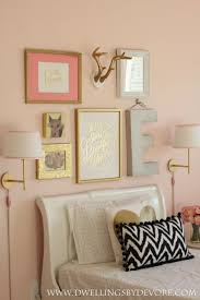 Girls Bedroom Kelly Green Carpet Girls Bedroom Gallery Wall Beautiful Pink And Gold Girls Room