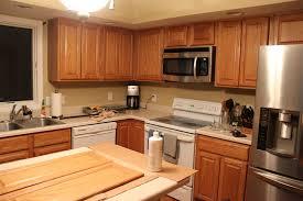 Refinishing Kitchen Cabinets Without Sanding Sanding And Painting Oak Kitchen Cabinets Monsterlune