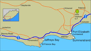 j bay south africa map accommodation in southern coast eastern cape south africa map of
