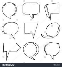 speech bubble hand drawn comic speech bubble hand drawn theme stock vector 315285224