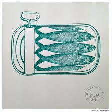sardine tin print tattoo 29 pinterest fish illustration
