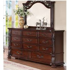 Charleston Bedroom Bed Dresser  Mirror King - Charleston bedroom furniture
